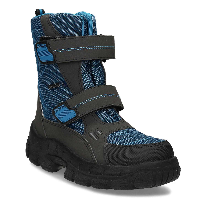 Modrá detská zimná obuv na suché zipsy