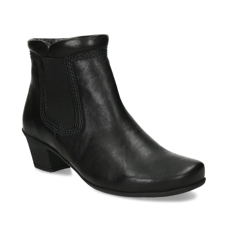 Čierne dámske členkové čižmy
